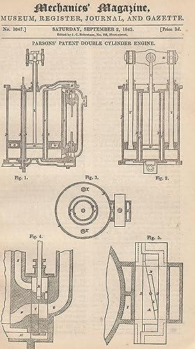 Parson's Patent Double Cylinder Engine; Professor Vince's
