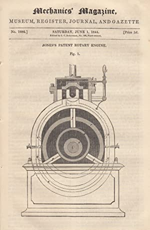 Jone's Patent Rotary Engine; Light; Carmichael's Water-Meter;