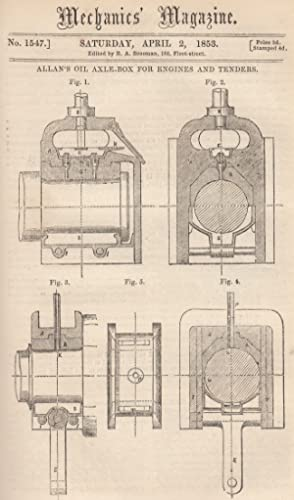 Allan's Oil Axle-Box For Engines And Tenders;