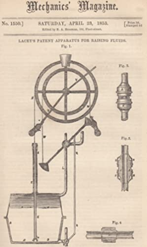Lacey's Patent Apparatus For Raising Fluids; The