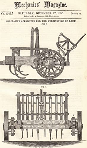 William's Apparatus For The Cultivation Of Land;