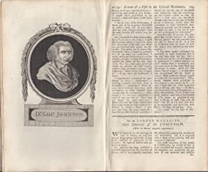 Samuel Johnson, a short article TOGETHER WITH