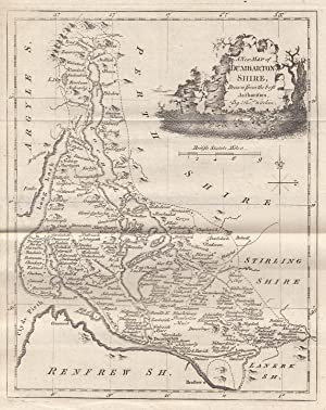 A Map of Dumbartonshire by Thomas Kitchin,