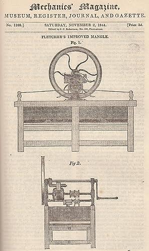 Fletcher's Improved Mangle; The Atmospheric Marine Engine;