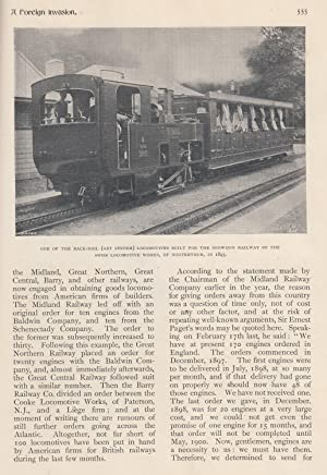 A Foreign Invasion. American Locomotive Builders into Britain. A rare original article from Feilden...