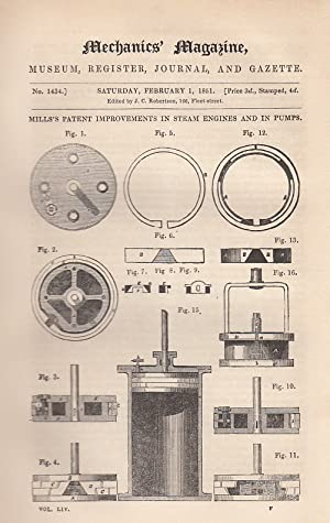 Mill's Patent Improvements In Steam Engines And