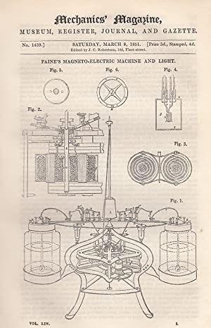 Paine's Magneto-Electric Machine And Light; On Impossible