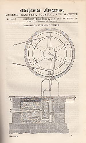 Mitchell's Hydraulic Engine; On Mr. Siemens Regenerative