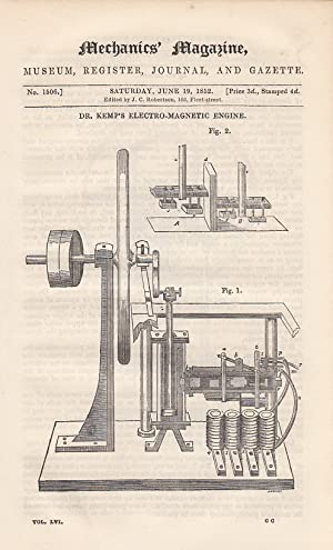 Dr. Kemp's Electro-Magnetic Engine; Floating Docks; The