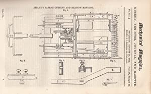 Ridley's Patent Cutting And Reaping Machine; Experiments On The Release Of Fluids, Necessary To...
