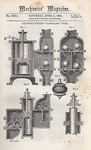 Delpech's Patent Castraise Pump; On Siege Operations,