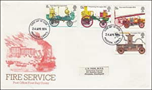 The Fire Service. Royal Mail Special Commemorative