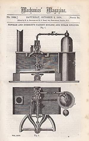 Neville And Dorsett's Patent Boilers And Steam