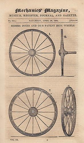 Messrs. Jones & Co.'s Patent Iron Wheels;