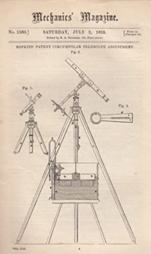 Hopkin's Patent Circumpolar Telescope Adjustment;The Trades Of Birminham; Launch Of The ...