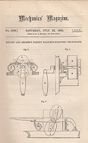 Bright And Bright's Patent Magneto-Electric Telegraph; The