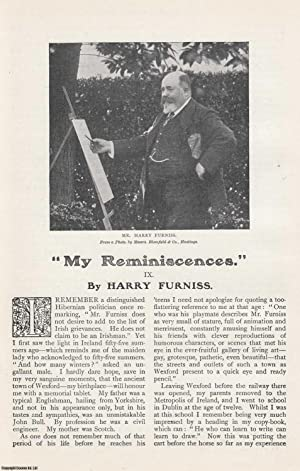 Harry Furniss. My Reminiscences. A rare original article from The Strand Magazine, 1909.