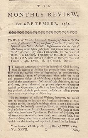 The Works of Nicholas Machiavel, Secretary of State to The Republic of Florence. by Ellis ...