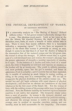The Physical Development of Women. An original article from The Humanitarian, A Monthly Review of ...