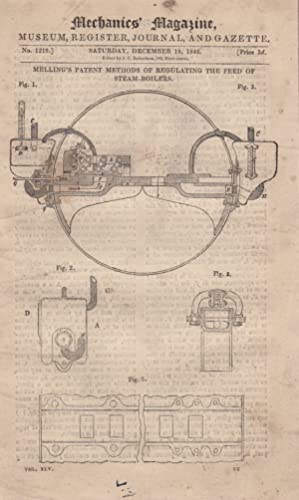 Melling's Patent Methods of Regulating The Feed of Steam-Boilers; Compressed Air Locomotive; ...