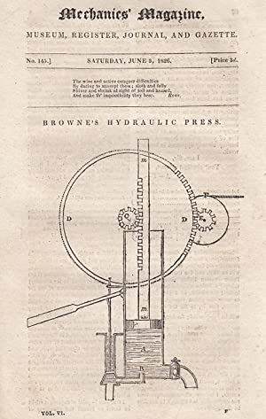 Browne's Hydraulic Press; Preparation of Gold Leaf; Mechanics' Institutions; Lock With Four...