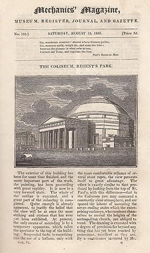 The Coliseum, Regent's Park; Rotary Steam Engine;