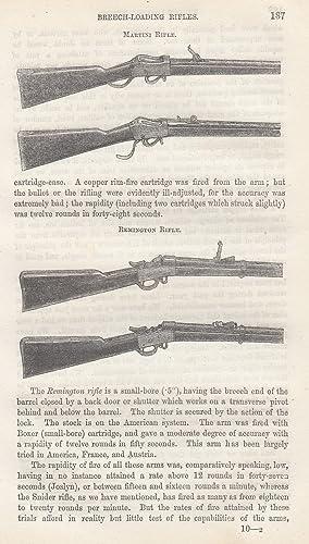 Breech Loaders; Breech Loading Rifles; The New Military Breech Loader. Three interesting ...