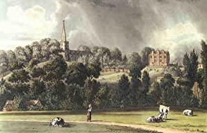 Vintage Print. Harrow School. Coloured reproductions of four exterior views as original published...