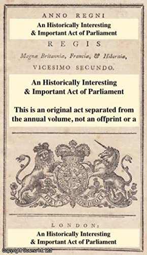 An Act to amend an Act.for the: George III