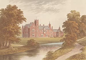 Thicket Priory, near York, Yorkshire. The House of the DunningtonJefferson family. Antique Colour ...