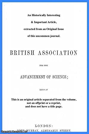 A Peliminary Note on the Glaciation of: Albert Jowett, M.Sc.,