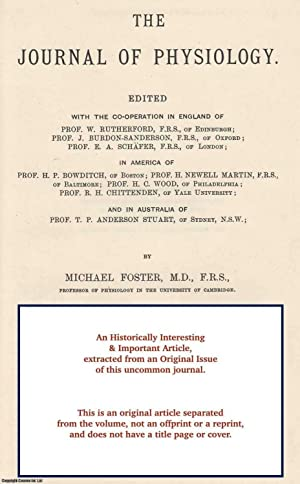 The General Physiological Effects of Extracts of: Vincent, Swale
