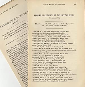 Society for Psychical Research Lists of American