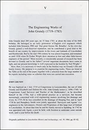 The Engineering Works of John Grundy (1719-1783). An original article from a Variorum publication...