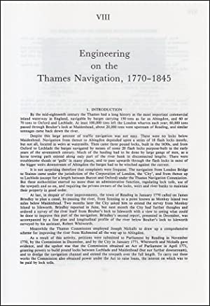 Engineering on The Thames Navigation, 1770-1845. An original article from a Variorum publication,...