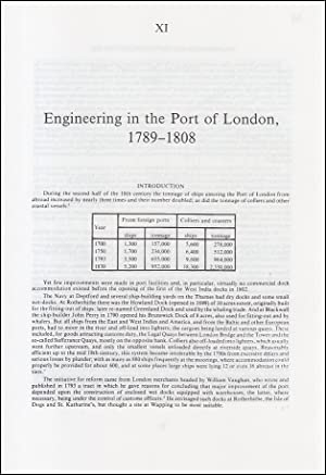 Engineering in The Port of London, 1789-1834. An original article from a Variorum publication, 1996.