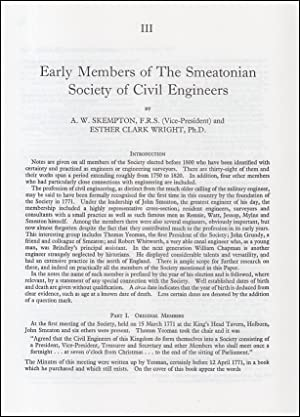 Early Members of The Smeatonian Society of Civil Engineers. An original article from a Variorum p...