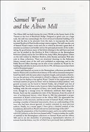 Samuel Wyatt & The Albion Mill. An original article from a Variorum publication, 1996.