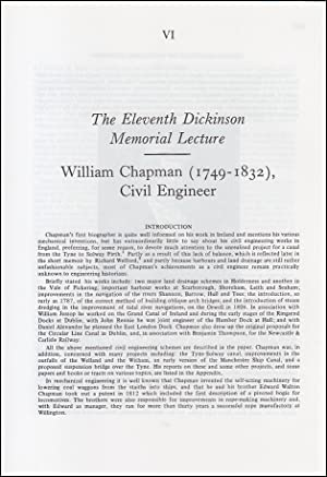 William Chapman (1749-1832), Civil Engineer. An original article from a Variorum publication, 1996.