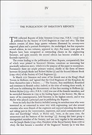 The Publication of John Smeaton's Reports. An original article from a Variorum publication, 1996.