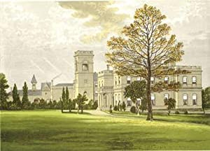 Stowlangtoft, near Bury St. Edmunds, Suffolk. The House of the Wilson family. Antique Colour Print....