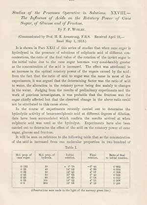 Studies of the Processes Operative in Solutions. XXVIII The Influence of Acids on the Rotary Power ...