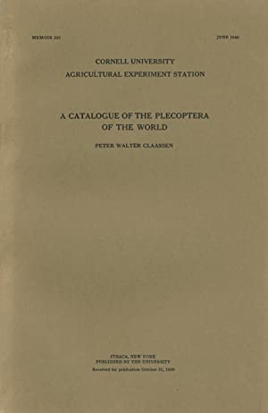 A Catalogue of the Plecoptera of the World [Memoir 232]