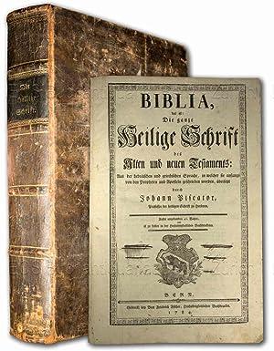 Biblia, das ist: Die gantze Heilige Schrifft: Biblia Germanica. –