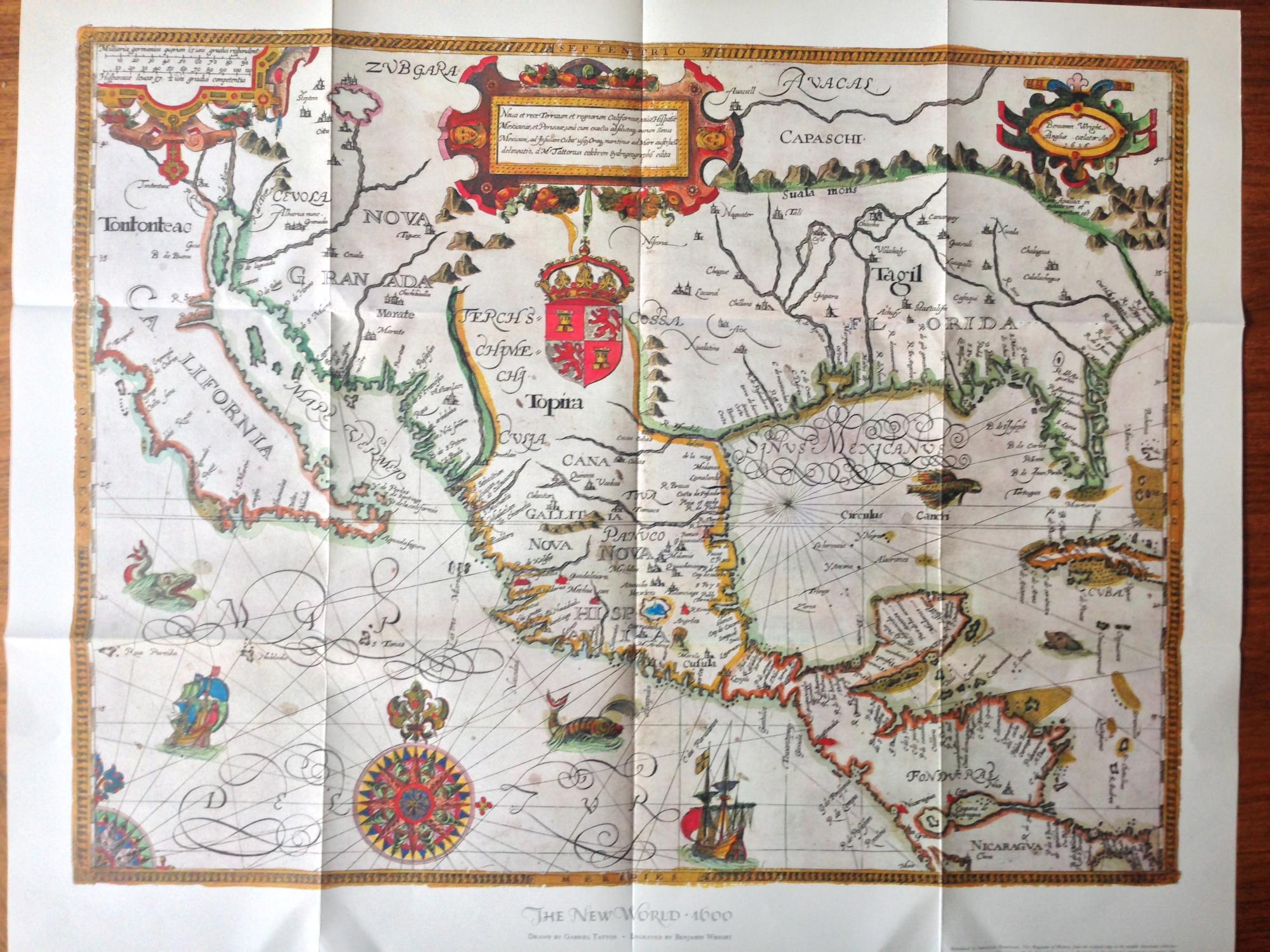 Map Reproduction] The New World - 1600 / Drawn by Gabriel Tatton ...
