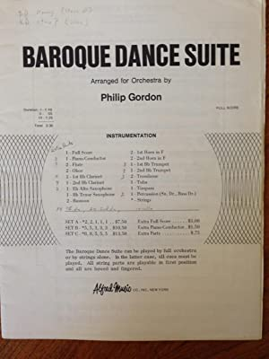 Sheet Music] Baroque Dance Suite Arranged for Orchestra by Philip Gordon - Full Score: Philip ...