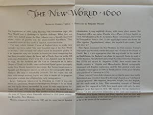 Map Reproduction] The New World - 1600 / Drawn by Gabriel Tatton ; Engraved by Benjamin Wright.: ...