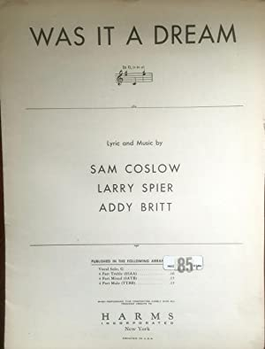 Was It a Dream?: Sam Coslow; Larry