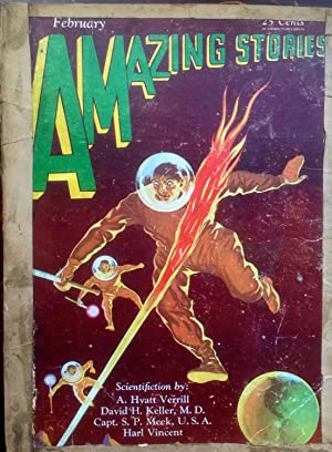 Pulp magazine]: Amazing Stories --- February 1930: VERRILL, A. Hyatt