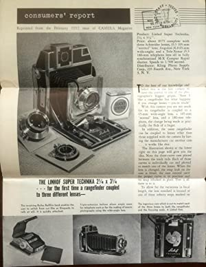 Consumers' Report : The Linhof Super Technika: CAMERA magazine